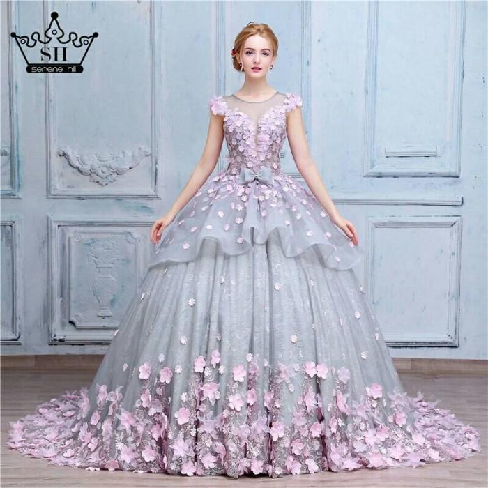 Jual Gaun Pengantin Lux Mewah Baju Pengantin Silver Bunga Wedding Gown Hits Kota Medan Chicquinna Gown Tokopedia