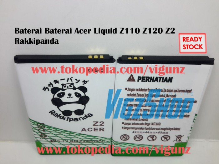 Baterai acer liquid z2 z110 z120 3000mah rakkipanda double power