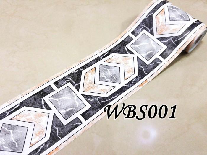 Wbs001-square diamond black 105cm-wall border sticker 10mx10.5cm