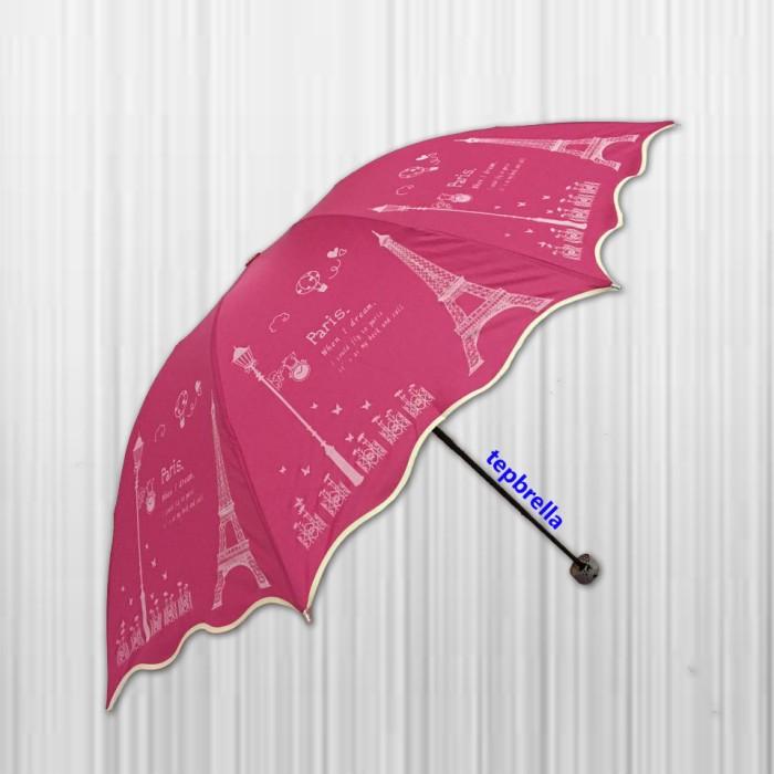 Payung lipat 3 8 jari paris gelombang