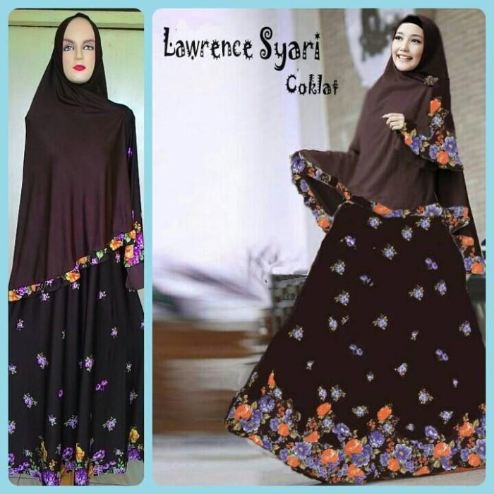 Jual Model Baju Gamis Syari Cantik Lawrence Coklat Model Baju