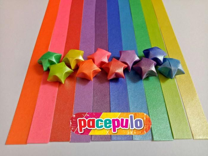 Foto Produk K-04 Kertas Origami Bintang Metalik / Metalic Paper Star dari pacepulo