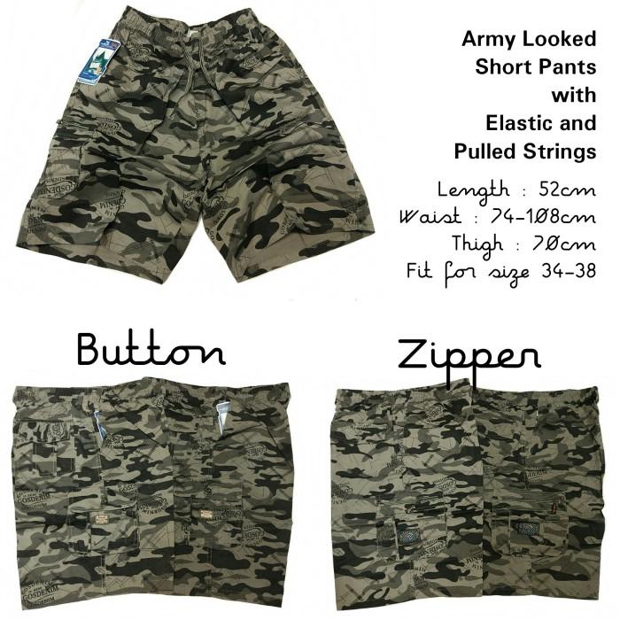 Features Valatex Celana Pangsi Army Abu Dan Harga Terbaru Source · Celana pendek katun karet cargo santai army
