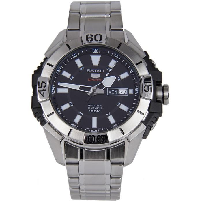 Jam Tangan Seiko 5 Sports SRP793K1 Automatic 24 Jewels Full Silver Bla f2b7708ec7