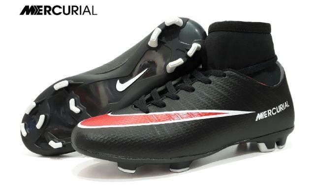 Sepatu bola nike mercurial high made in vietnam hitam merah 94ebeb910f11