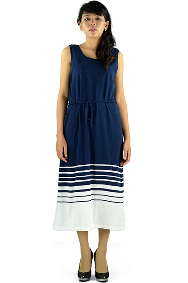 Jual Tommy Hilfiger | Stripe Dress | Dark Navy | Long Dress ...