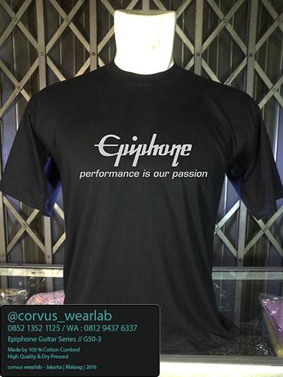 harga Kaos distro musik epiphone gitar Tokopedia.com