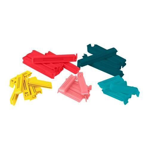 Clip bungkus plastik sisa makanan isi 30pcs lebar jepit 6cm dan 10cm