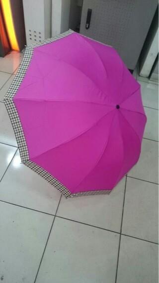 Payung lipat 3 10jari blueberry