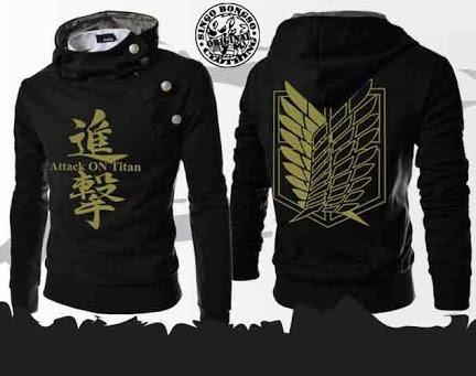 harga Sweater harajuku attack on titan hitam Tokopedia.com
