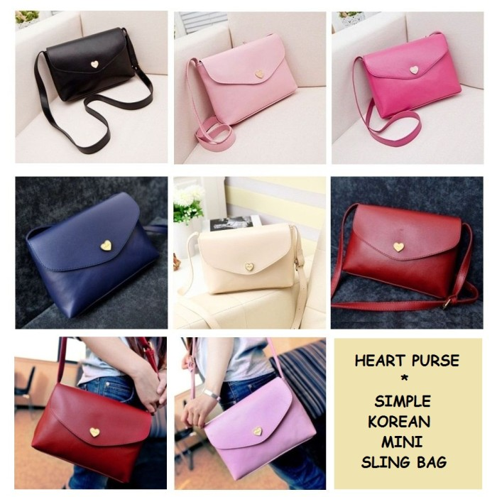 Jual HEART PURSE - KOREAN SIMPLE MINI SLING BAG   TAS SELEMPANG ... 9f9cae8d61