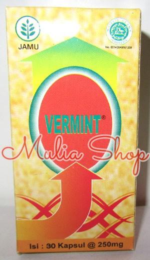 Foto Produk Vermint isi 30 kapsul (Kapsul ekstrak cacing) Obat Typus dan Demam dari Mulia Shop