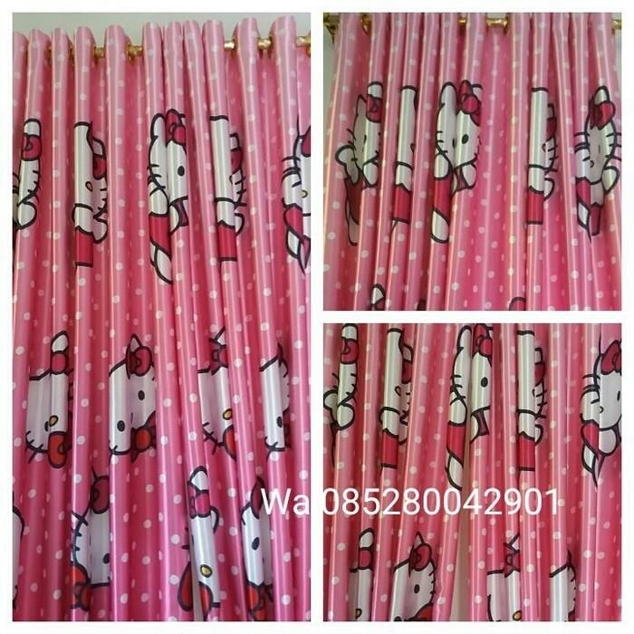 Tirai Benang Cantik Motif Love 1 Pcs - Orange. Source · Gorden hellokitty pink blackout import L 200 cm T 210 cm