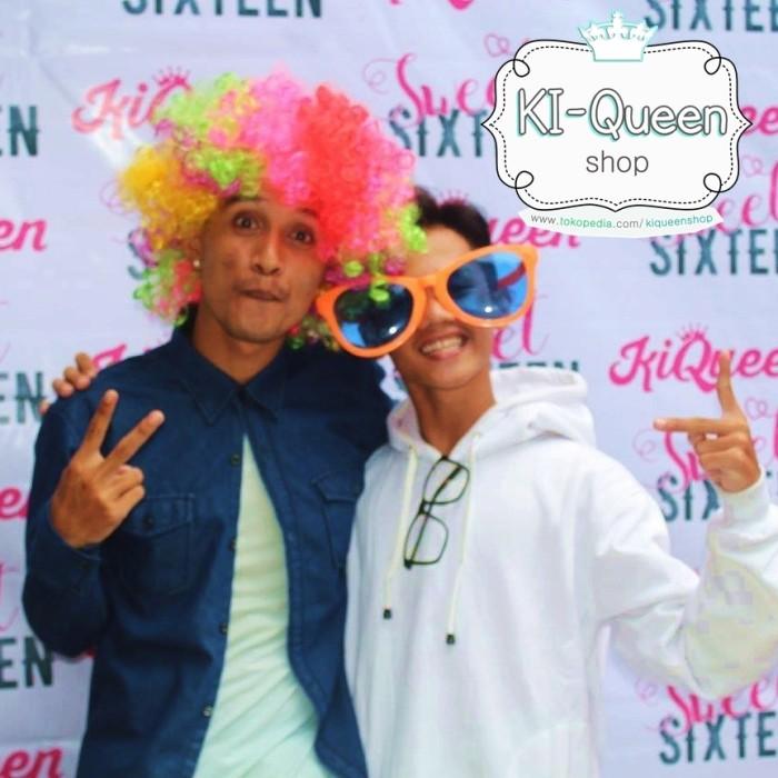 Jual Wig Badut Kribo Lucu   Clown Wig Pelangi Warna Unik   Aksesoris ... 42e0db2ace