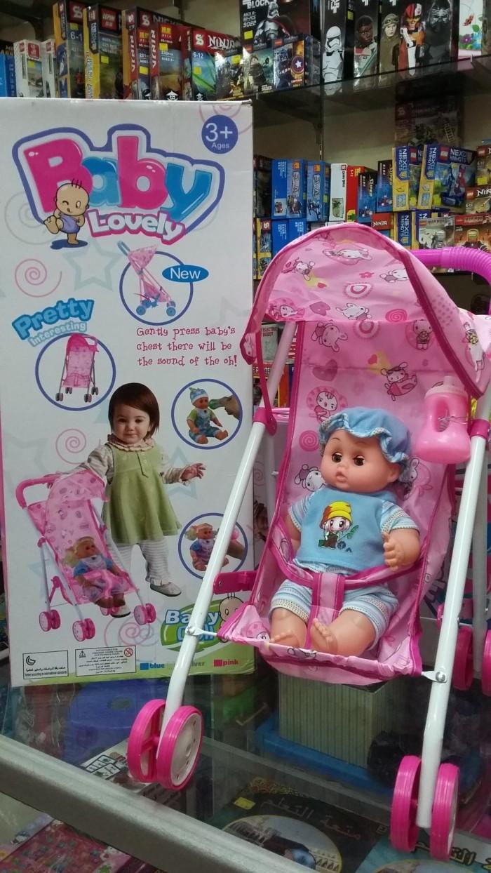 harga Baby lovely doll stroller mainan kereta dorong boneka bayi Tokopedia.com