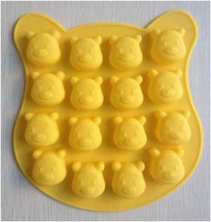Cetakan coklat es puding jelly pooh bear ice cube chocolate mold
