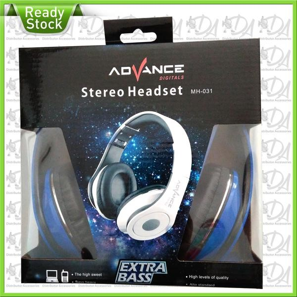 Headset Stereo Advance Mh 031