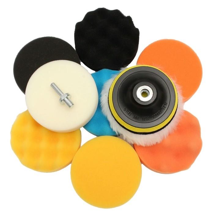 harga 11pc 5 inch sponge polishing buffing waxing pads car polisher + m14 Tokopedia.com