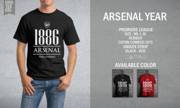 harga Kaos arsenal year t-shirt raglan bola the gunners afc Tokopedia.com