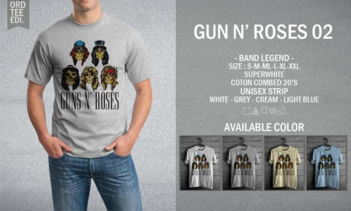 harga Kaos guns n roses 02 t-shirt raglan music rock metal band legend gnr Tokopedia.com