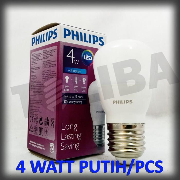 lampu led philips 4watt 4w 4 w 4 watt / lampu philips led putih sni