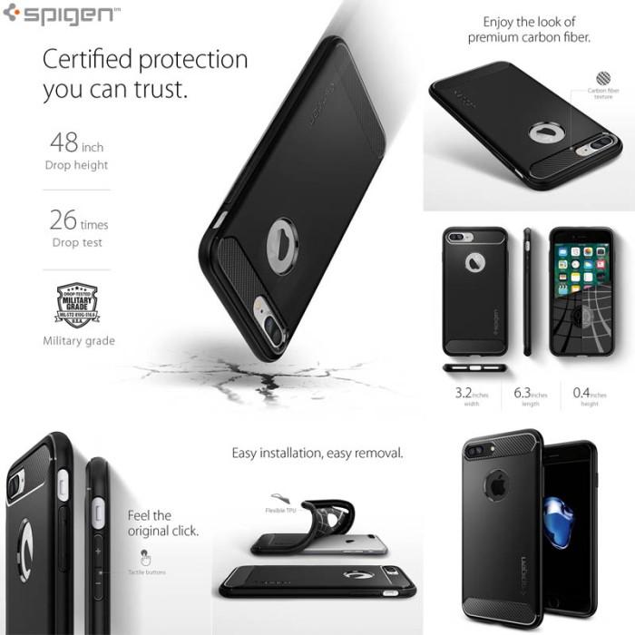 harga Iphone 7 spigen rugged armor soft cover casing case original softcase Tokopedia.com