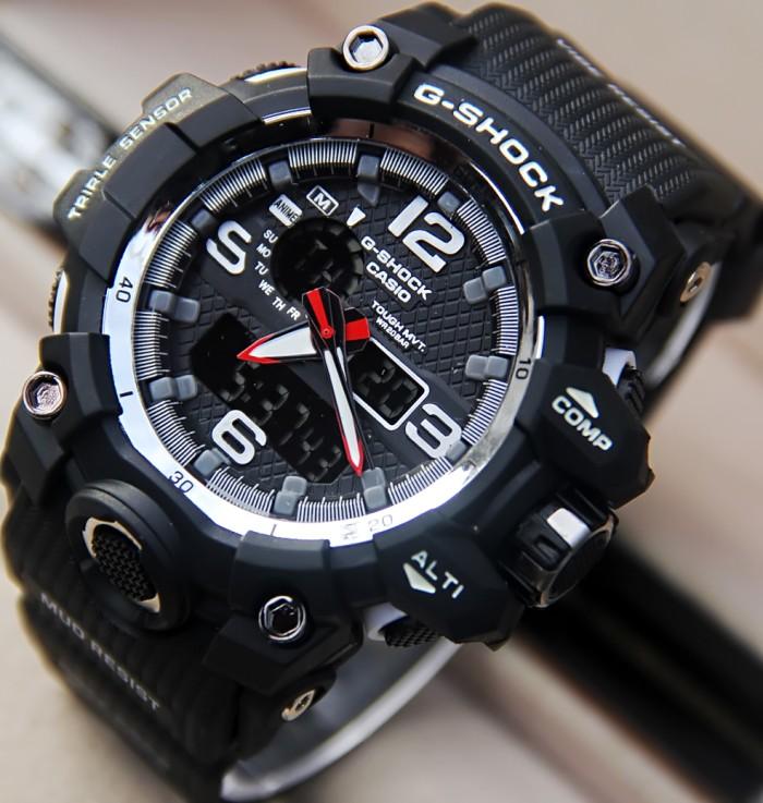 harga Casio g-shock double time jam tangan sport pria rubber black Tokopedia.com
