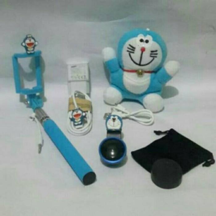 Gambar Paket Powerbank Doraemon Tongsis