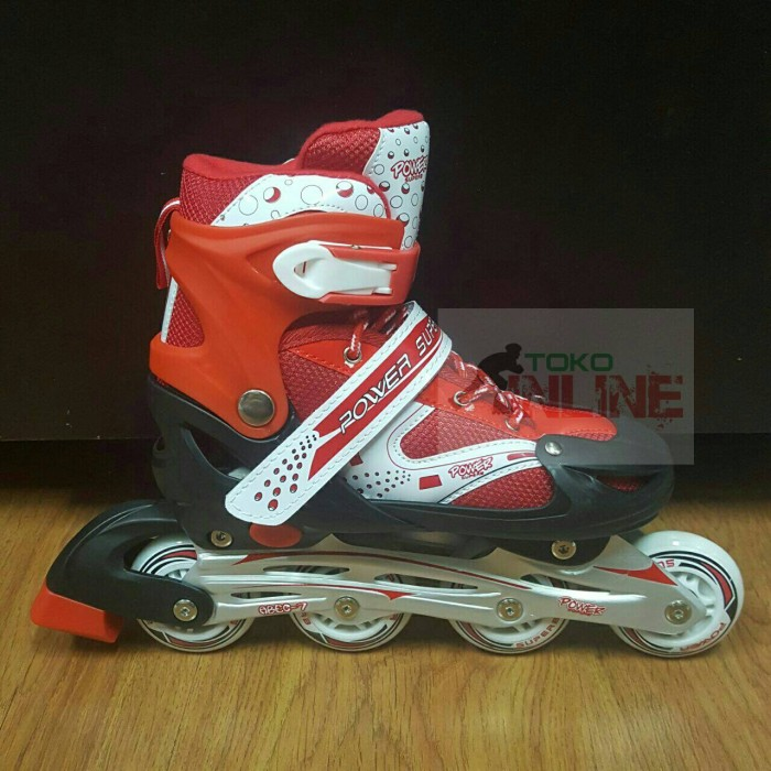 Jual Sepatu Roda Inline Skate Anak Murah Power Superb 6032 - MERAH ... 604e891d7d