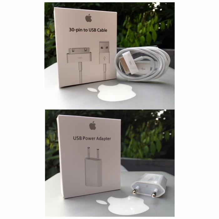 harga Paket ori wall charger kabel 30pin iphone ipod touch nano 2 3 3gs 4 4s Tokopedia.com