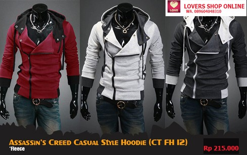 Jual Assassin S Creed Jaket Casual Jeans Korea Style Hoodie