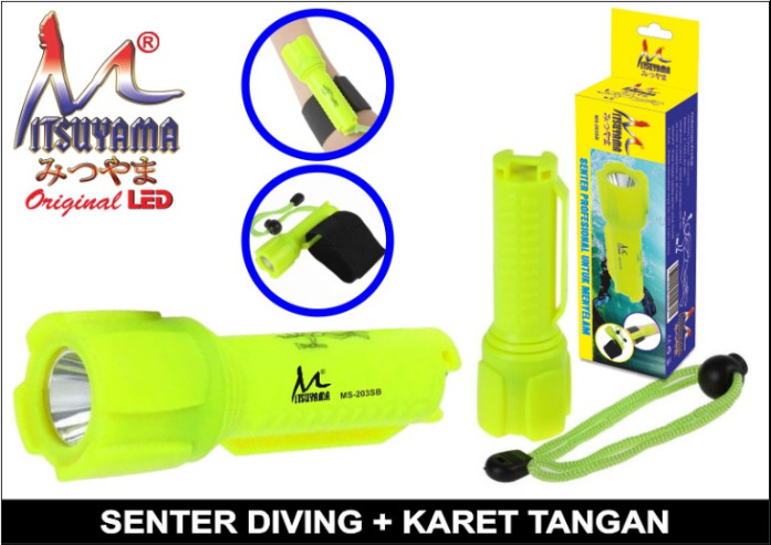 harga Senter menyelam / senter diving mitsuyama ms-203sb Tokopedia.com