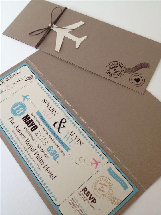 Undangan Pernikahan Wedding Invitation Boarding Pass