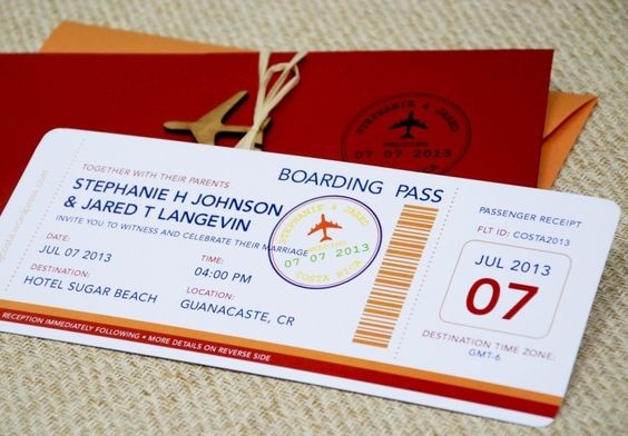 Jual Undangan Pernikahan Wedding Invitation Boarding Pass Paper
