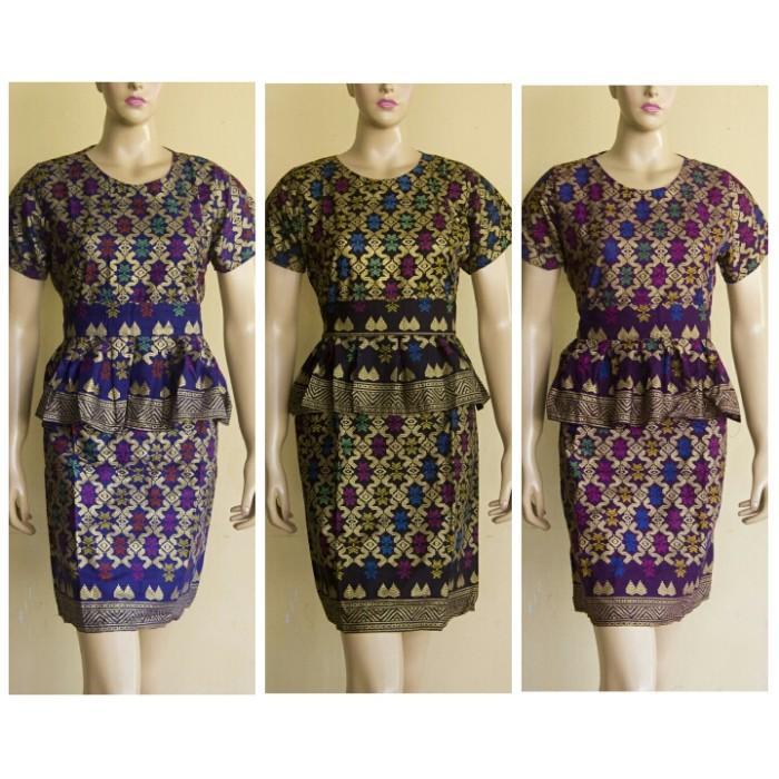 Jual Dress batik wanita   baju batik wanita  baju batik kerja wanita ... 0dee39874d