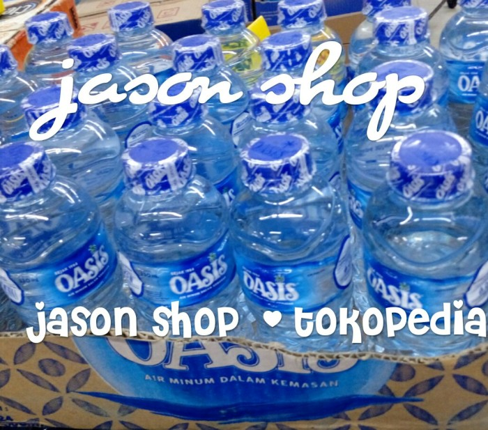 harga Air minum botol kecil (amdk) oasis 1 dus isi 24 pc @330ml Tokopedia.com