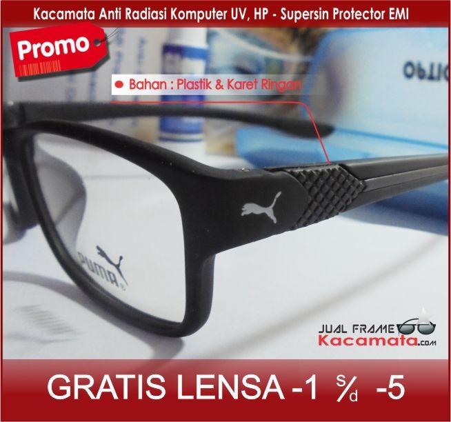 Frame Kacamata Baca Plus Minus Sporty Anti Radiasi Komputer Puma ... f5b1a99a29