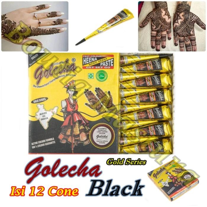 Jual Golecha Henna Black Hitam Gold Series Mahendi Cek Harga Di