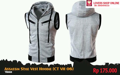 Jual Assassin S Creed Style Rompi Vest Hoodie Anime Kota