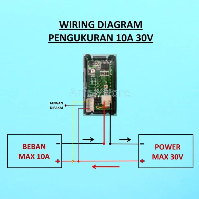 Jual Dual Volt Amp Meter Digital Ampere Meter Voltmeter 10A 0-100V ...