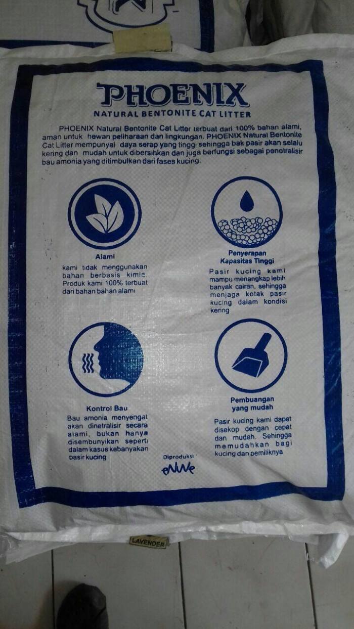 Phoenix Pasir Kucing Cat Litter Gumpal Aroma 20kg Gosend Jabodetabek Eco Sand 20 Kg Wangi