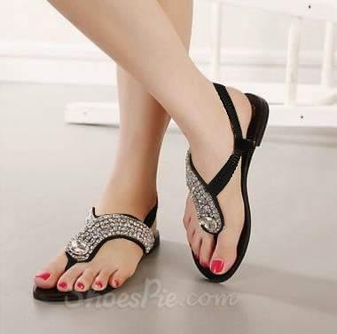 Sandal teplek ceper tali cewek wanita korea flat shoes modis casual