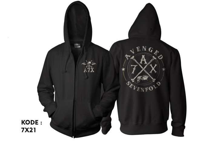 harga Jaket avnged sevenfold-zipper avenged sevenfold-switer-hoodie 7x21 Tokopedia.com