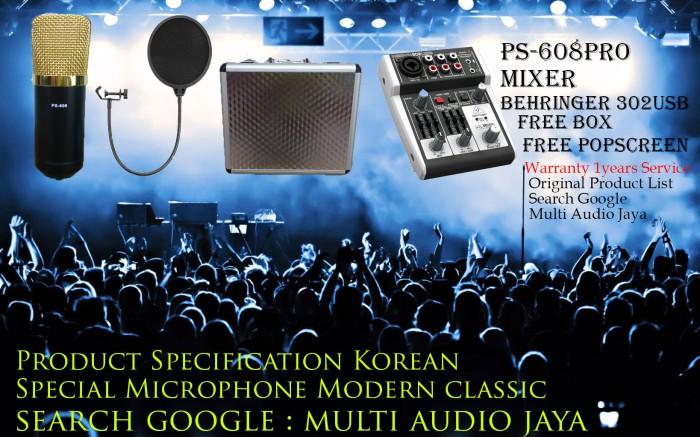 harga Mic studio ps-608pro original&mixer behringer 302 usb Tokopedia.com