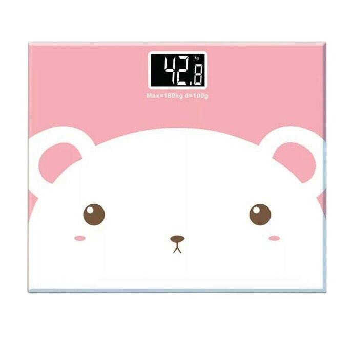 harga Timbangan badan mini digital desain kartun 180kg white pink Tokopedia.com