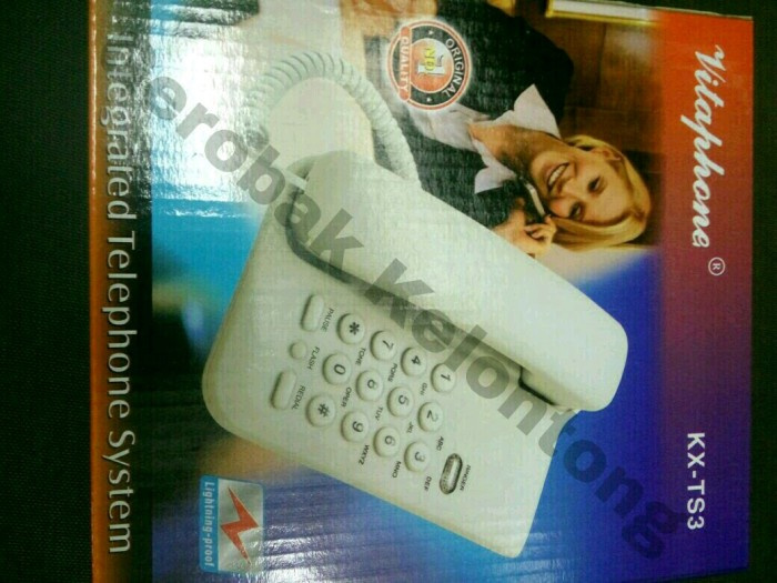 harga Pesawat telepon / telepon rumah vitaphone kx-ts 3 Tokopedia.com