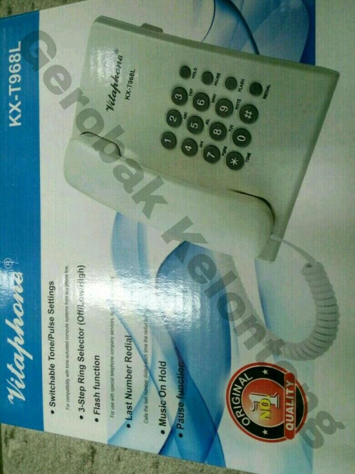 harga Pesawat telepon/telepon rumah vitaphone kx-t968l Tokopedia.com