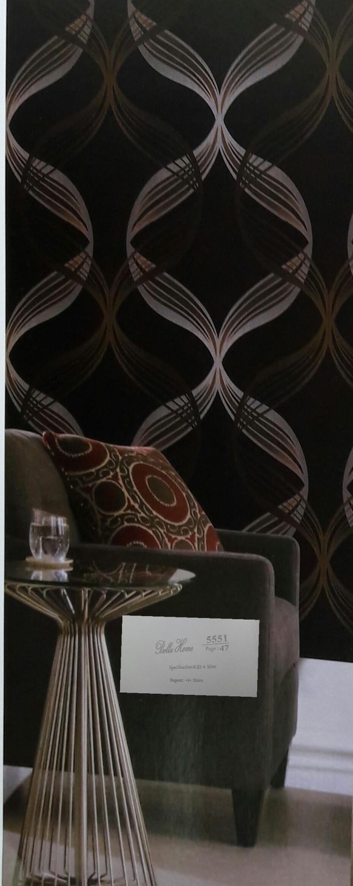 Jual Wallpaper Minimalis Warna Hitam Gold Coklat Kembar Makmur