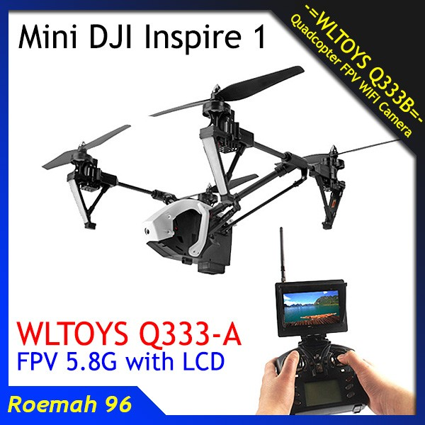 harga Mini dji inspire drone q333a q333 fpv 5.8g camera lcd monitor Tokopedia.com