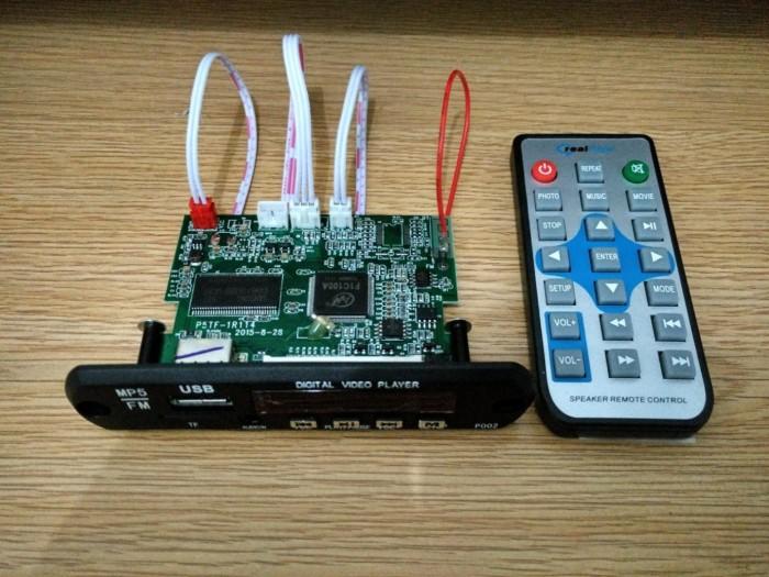 harga Modul kit digital video player mp3 mp4 mp5 fm radio support tf / usb Tokopedia.com